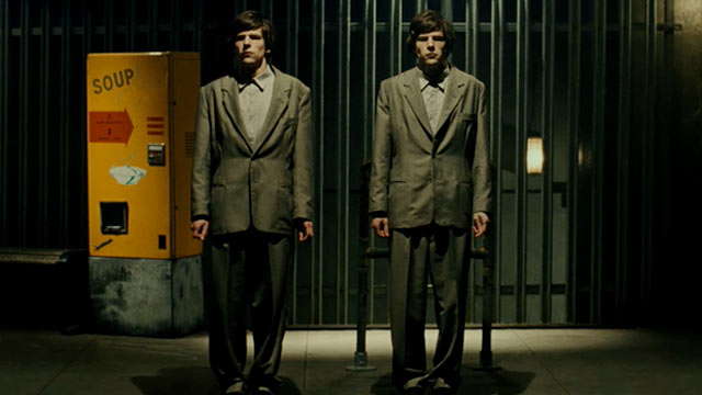 Jesse Eisenberg in The Double.