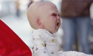 Devil baby scares New Yorkers in promotional stunt for Devil's Due film A remote control 'devil baby' uses lifelike animatronics to promote the film Devil's Due in New York.