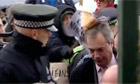 Nigel Farage hit over head with placard
