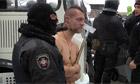Ukraine anti-government protester stripped naked