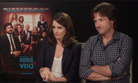 Tina Fey and Jason Bateman, stars of This is Where I Leave You