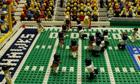 Super Bowl brick-by-brick