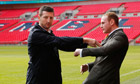 Carl Froch shoves George Groves at Wembley press conference – video