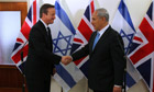 David Cameron visits Binyamin Netanyahu in Israel - video