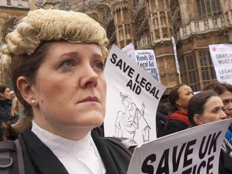Barristers and solicitors in walk-out protest against legal aid cuts