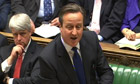David Cameron speaking at prime minister's questions
