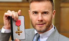 Gary Barlow with OBE