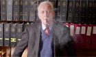 Labour politician Tony Benn in a still from the documentary Tony Benn: Will and Testament