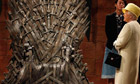 The Queen is shown props on the set of Game of Thrones