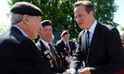 David Cameron greets British World War II veterans