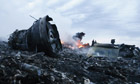Malaysia Airlines Boeing 777 flight crash site