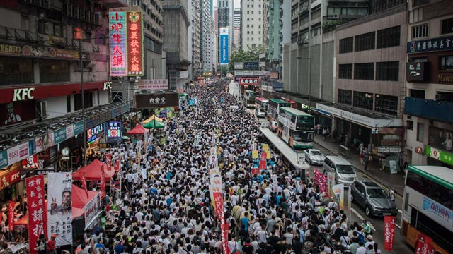 Mass democracy march in Hong Kong