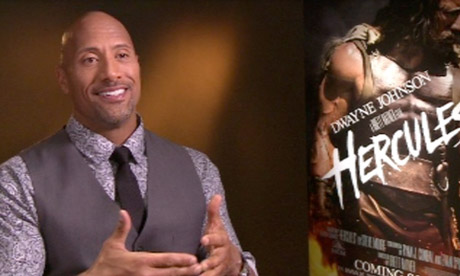 Dwayne 'The Rock' Johnson on film Hercules