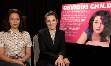Jenny Slate and Gillian Robespierre, star and director of Obvious Child