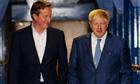 David Cameron with Boris Johnson walk