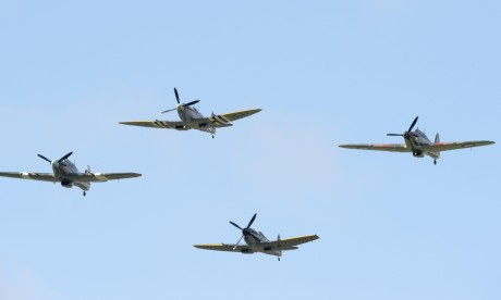 Battle of Britain anniversary marked with historic flypast – video