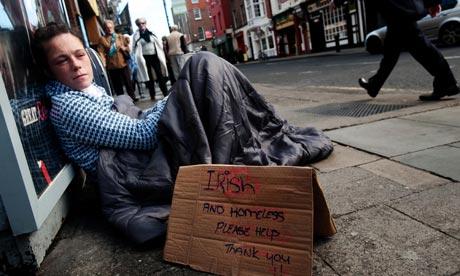 Homeless man Ireland