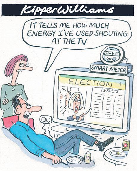 Kipper Williams cartoon on Smart Meters
