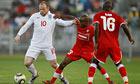 Rooney in England v Platinum Stars