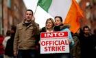 Public service workers strike