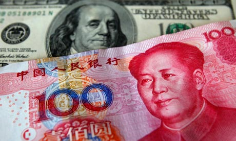 Chinese yuan and US dollar
