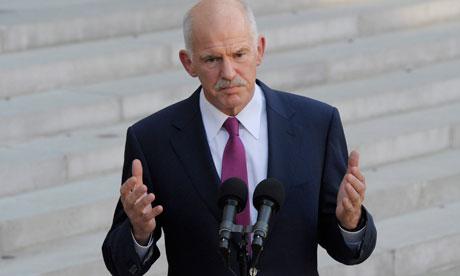 George Papandreou met Nicolas Sarkozy