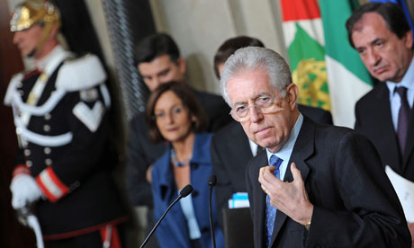 Newly-appointed Italian Prime Minister Mario Monti unveils his cabinet