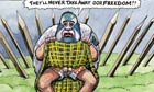14.06.2012: Steve Bell cartoon on Alex Salmond at Leveson