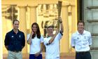 The Duke and Duchess of Cambridge and Prince Harry Olympic Torch