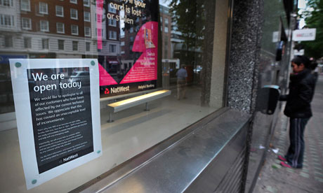 NatWest notice apologising to customers