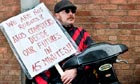 Anti Cuts Demonstrators Picket Atos Healthcare