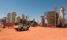 File photo of the Statoil-run gas field in Amenas, Algeria