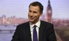 Health Secretary Jeremy Hunt The Andrew Marr Show