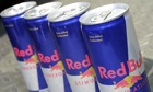 Cans of Red Bull energy drink