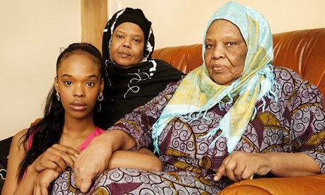 Samira Hashi, her mother Lul Musse and grandmother Faduma Ali