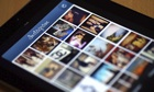 Pictures appear on the smartphone photo sharing application Instagram