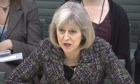 Home secretary Theresa May answers questions from MPs.