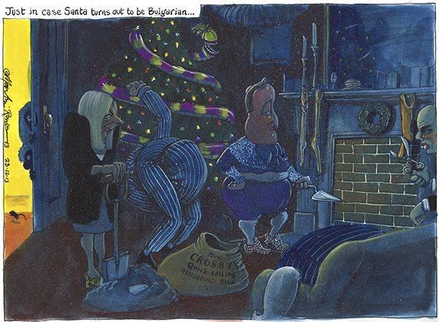 Martin Rowson comment cartoon 23.12.2013