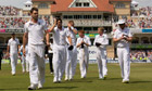 England bowler James Anderson carries a stump as he leaves the field at Trent Bridge