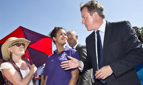Prime Minister David Cameron Visits Former Olympic Site