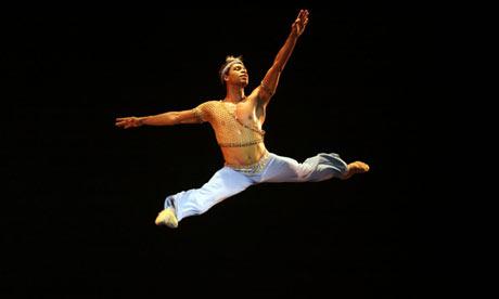 Dancer Carlos Acosta performing in the Gran Teatro of Havana