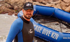 Jamie Theakston prepares to go shark diving in South Africa