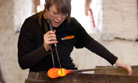 Alli Byrne demonstrates how to make glass objects