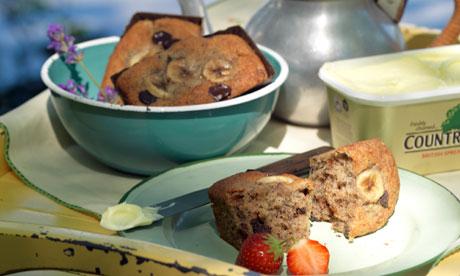 Chocolate & spiced banana muffins