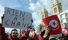 Tunisians demonstrate outside the French embassy