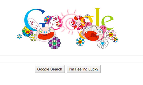 Summer solstice Google doodle by Takashi Murakami