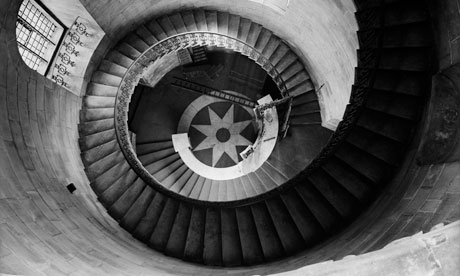 The spiral staircase at St Paul's Cathedral, London.