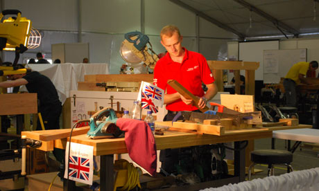Carpenter competing at WorldSkills