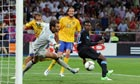 Danny Welbeck scores against Sweden