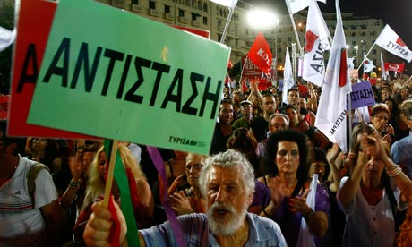 Syriza supporters in Athens